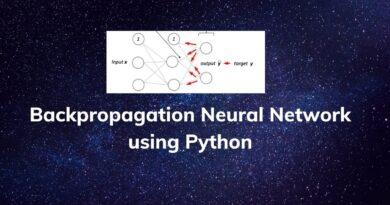 Backpropagation Neural Network usingPython